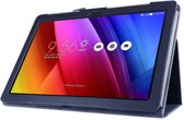 Javu - Asus ZenPad 10 Hoes - Book Cover Lychee Donker Blauw