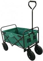 Bolderkar / Bolderwagen opvouwbaar groen met luxe PU wielen en opberghoes