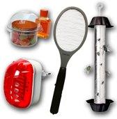 Voordeelpakket - Anti Vliegen - ElektrischeVliegenmepper-Muggenstekker-Fruitvliegjesvanger-Vliegenstick