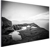 Natuurfoto zwart-wit Aluminium 60x40 cm - Foto print op Aluminium (metaal wanddecoratie)