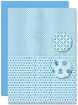 Decoupage Vel - Tweezijdig - Lichtblauw - Baby Jongen-Mengeling