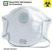 Mondkapje met FFP2-filter - opvouwbaar - Met ademv