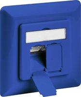 Goobay Netwerk wandcontact inbouwdoos - 2x RJ45 / CAT6a - blauw
