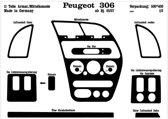 Richter Prewoodec Interieurset Peugeot 306 5/1997- 11-delig - Aluminium