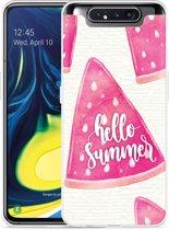 Galaxy A80 Hoesje Summer Melon