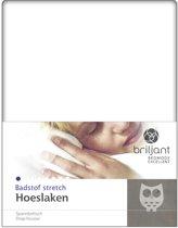 Briljant Badstof Hoeslaken Wit-80/90 x 200 cm