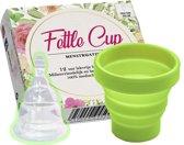 Fettle Cup - Herbruikbare Menstruatiecup | Invouwbaar | Gratis Sterilisator! - Groen