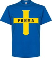 Parma Cross T-Shirt - Blauw - M