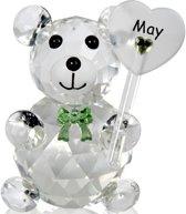 Kristalglas beer geboorte maand mei