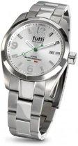 Tutti Milano TM800GY - Horloge - 40 mm - Zilverkleurig - Collectie Bacio