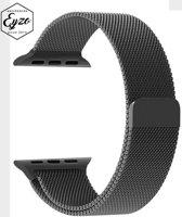 Apple Watch Bandje Milanees 38mm Zwart - Milanese Loop Band 38mm Roestvrijstaal Black- RVS Armband Black voor iWatch 38mm- Magneetsluiting voor Apple Watch