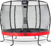 EXIT Elegant Premium trampoline ø305cm met net Deluxe - rood