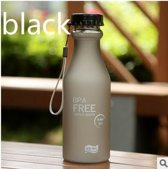2x BPA vrije sport waterfles | zwart