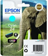 Epson Elephant Singlepack Cyan 24 Claria Photo HD Ink