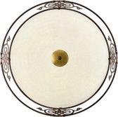 EGLO Mestre Wand/Plafondlamp - 3 Lichts - Antiek-Bruin, Goud - Wit