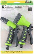Kinzo broespistool / spuitpistool / sproeikop set voor tuinslang