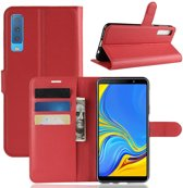 Book Case Samsung Galaxy A7 (2018) Hoesje - Rood