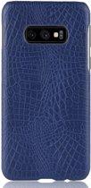 Mobigear Shockproof Krokodil Hoesje Blauw Samsung Galaxy S10e