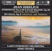 Sibelius: Symphony No. 5, En Saga / Vanska, Lahti Symphony