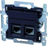 NIKO Intense Antracite inbouw STP CAT6 stopcontact