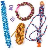 Sets met parakoord armbanden - speelgoed knutselpakket sieraden maken voor kinderen (6 stuks)