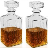 2x Whiskey Decanter karaf diamond 0,9L
