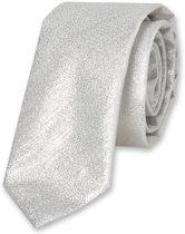 E.L. Cravatte Stropdas - Zilver glitter - 100% Polyester
