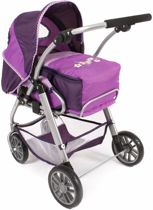 Bayer Chic 2000 - poppenwagen - Lino- Purple Checker