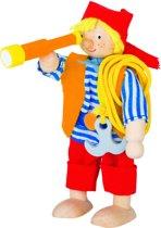 Goki Houten buigpopje piraat 9,5cm