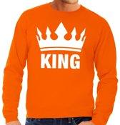 Oranje Koningsdag King sweater heren XL