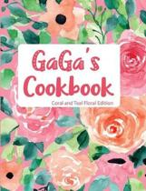 Gaga's Cookbook Coral and Teal Floral Edition