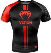 Venum Rashguard Logos Short Sleeve Zwart/Rood Medium