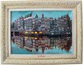 Mobiz Textiel - Wollen 'Tablo Farsh' - Ingelijste tapijten - 70x90 cm