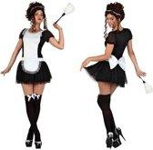 Kamermeisje verkleedpakje / kostuum voor dames - sexy dienstmeisje -  carnavalskleding - voordelig geprijsd M/L (38-40)