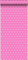 behang sterren roze - 114939 ESTAhome.nl