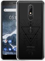 Nokia 5.1 Hoesje Abstract Moon Black