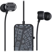 AKG N20NC - In-Ear Canal Headphones - Active Noise Cancelling - 3-Button Remote - Zwart