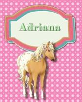 Handwriting and Illustration Story Paper 120 Pages Adriana