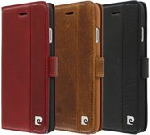 Pierre Cardin Book Case Rood - Stijlvol - Leer - iPhone 6/6S  - Luxe cover