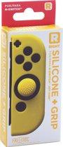 Joy Con Controller Silicone Skin - Rechts - Geel + Grips - Nintendo Switch