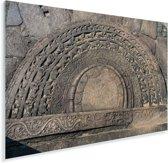 Maansteen in de ruïnes van Polonnaruwa Sri Lanka Plexiglas 120x80 cm - Foto print op Glas (Plexiglas wanddecoratie)