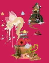 Fairies & Butterflies Pink 8.5 x 11 150 Pages Journal Notebook