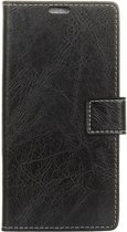 Mobigear Retro Luxe Wallet Hoesje Zwart LG V40 ThinQ