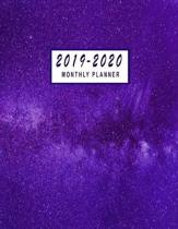 2019-2020 Monthly Planner: 2019-2020 Monthly Planner At A Glance - 24 Months Calendar 2019-2020 Planner - 2019-2020 Academic Planner - Monthly Ca