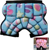 Children Outdoor Sports Roller Skating Protective Gear Hip Butt Padded Shorts Pants(Blue)