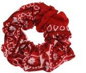 Paisley scrunchie haarelastiek rood/wit - Zac's Alter Ego