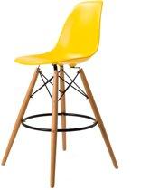 Design kruk DD DSW barkruk mat PP geel kuipstoel