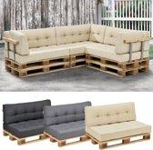 [en.casa]® Zitkussen voor op pallet sofa - Palletbank -Beige