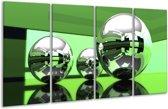 Glasschilderij Modern | Groen, Wit, Zwart | 160x80cm 4Luik | Foto print op Glas |  F004300