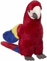 Pluche papegaai rood 21 cm